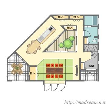 【間取り図集】収納の多い家
