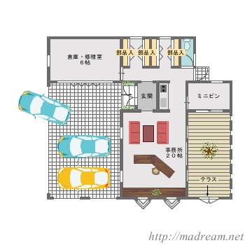 【間取り図集】事務所
