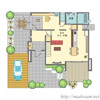 【間取り図集】モデルハウス