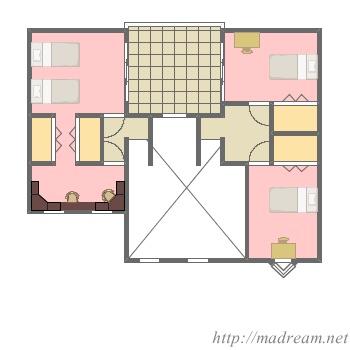 【間取り図集】スキップフロアのある家