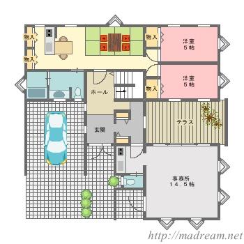 【間取り図集】店舗併用二世帯住宅