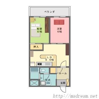 【間取り図集】ローズハイツ