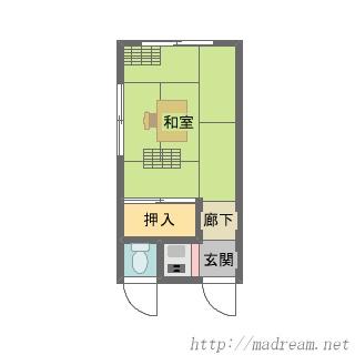 【間取り図集】某K社創業当時の事務所