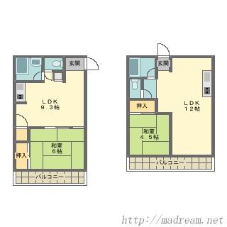 【間取り図集】どっちの部屋にするか迷ってます。