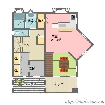 【間取り図集】吹き抜けのある家