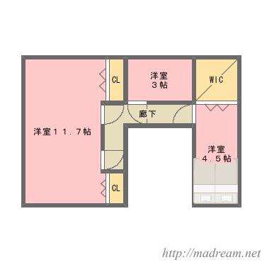 【間取り図集】中庭のある家