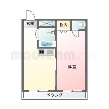 【間取り図集】ビガ‐ポリス1LDK