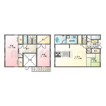 【間取り図集】八ヶ崎3丁目中古戸建