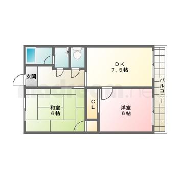 【間取り図集】ハイツウエハラ