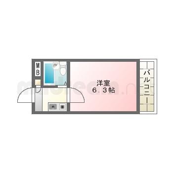 【間取り図集】シャルル楽音寺1号室