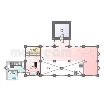 【間取り図集】別荘 案-10 L-1