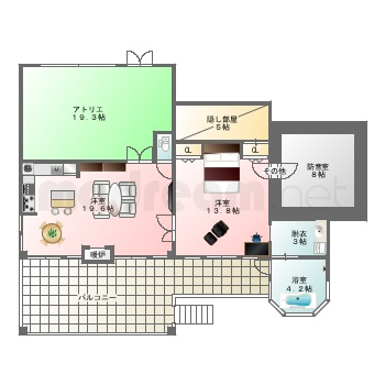 【間取り図集】別荘 案-12 -B