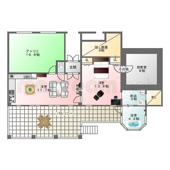 【間取り図集】別荘 案-12 -C