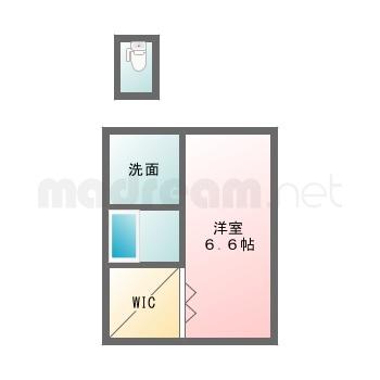 【間取り図集】仮 堀江2丁目 101