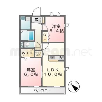 【間取り図集】メゾンデュリアン 201