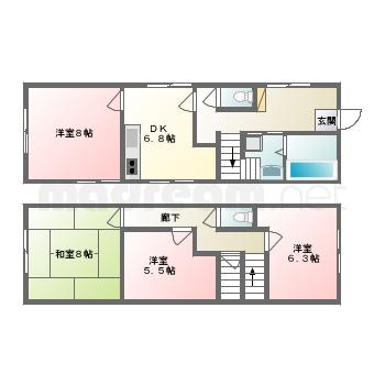 【間取り図集】タヤマビル2階3階