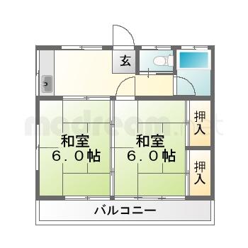 【間取り図集】第一桜場ハイツ 203