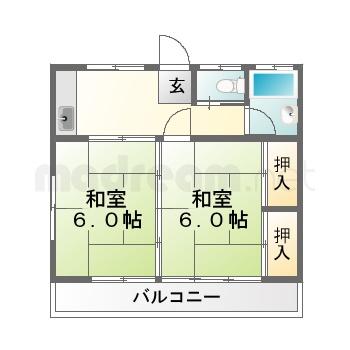 【間取り図集】第二桜場ハイツ 202