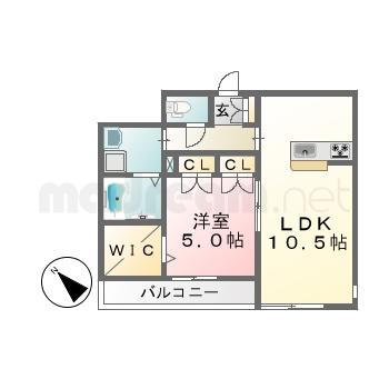 【間取り図集】ムーンライトコントラバス103、203、303
