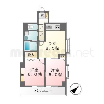 【間取り図集】サンライズアサミ401