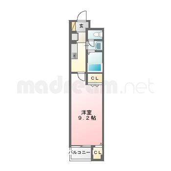 【間取り図集】LeafⅡ 102号室