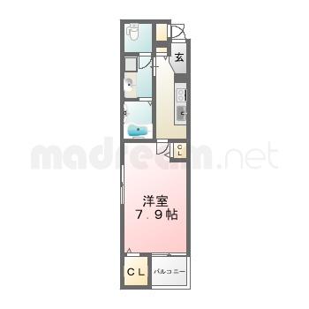 【間取り図集】Leaf 5号室(104)
