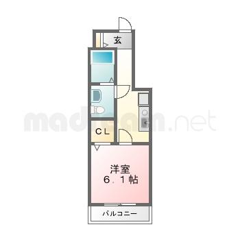 【間取り図集】ウィステリアR 3号室