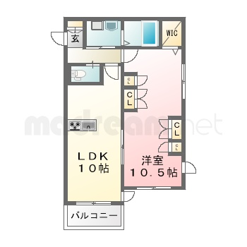 【間取り図集】ラポートK 202号室
