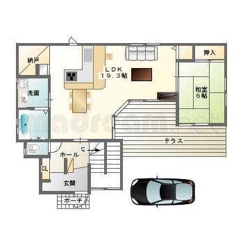 【間取り図集】L字型の家