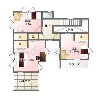【間取り図集】中庭テラスおある家