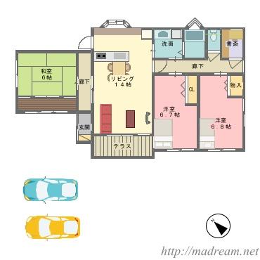 【間取り図集】住んでみたい家