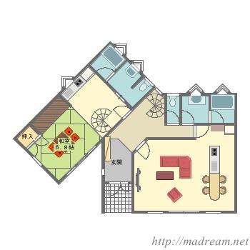 【間取り図集】二世帯住宅
