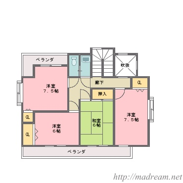 【間取り図集】大きめの家