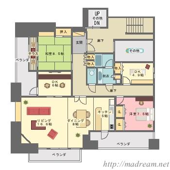 【間取り図集】新羅のマンション